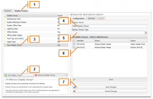 Screenshot of MyEyedro Client - Adding a Display Group