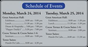 Schaedler yesco Expo 2014 schedule.
