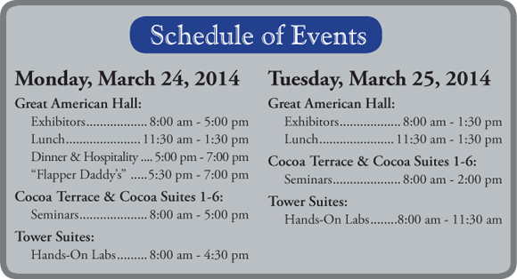 Schaedler yesco Expo 2014 schedule.