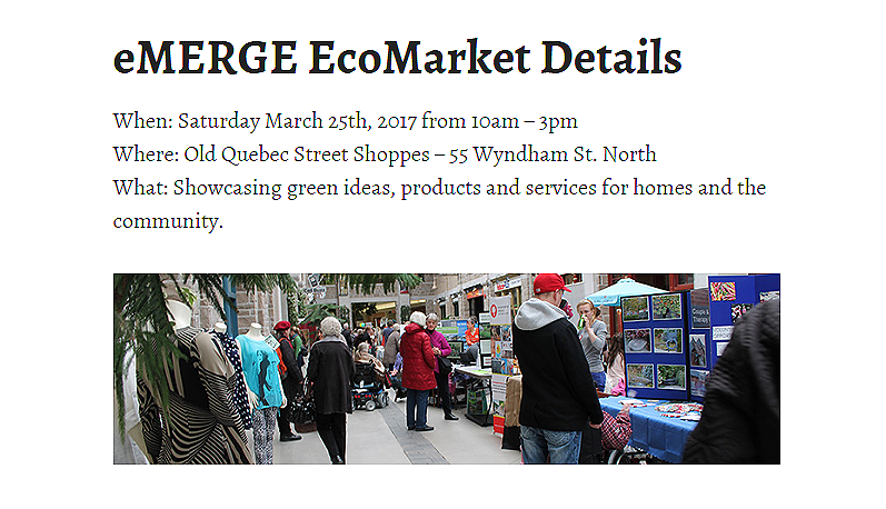 Visit Eyedro at the 10th Annual Guelph eMERGE EcoMarket March 25th, 2017