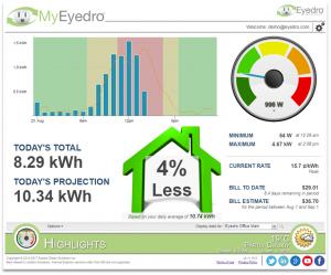 Screenshot of MyEyedro Client