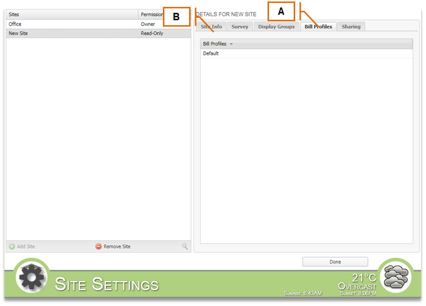 Screenshot for MyEyedro Client - Bill Profiles