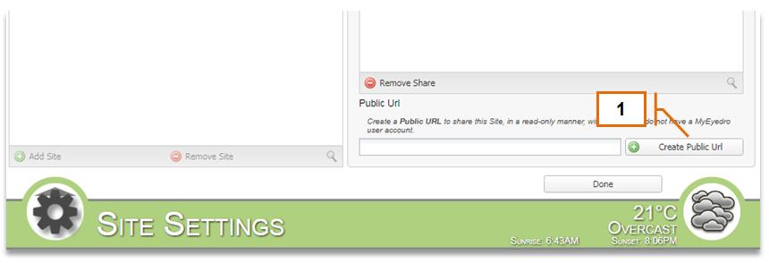Screenshot for MyEyedro Client - Public URL Sharing