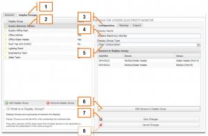 Screenshot of MyEyedro Client - Editing a Display Group