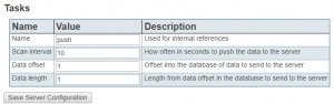 Screenshot of Chipkin Tasks Table