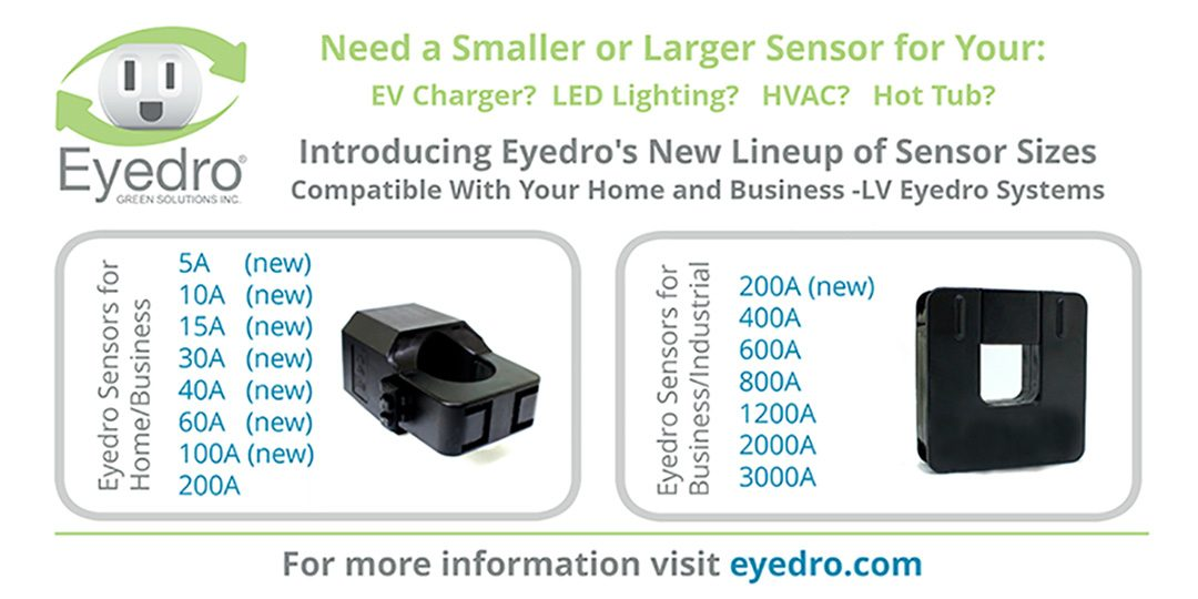All New Eyedro Sensor Sizes